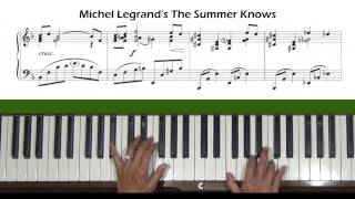 The Summer Knows by Michel Legrand Piano Tutorial