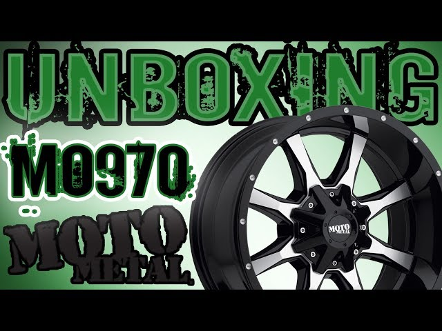Moto Metal 970 20x10 -24 Wheel Rim Unboxing