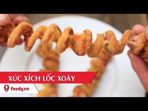 Hướng dẫn cách làm xúc xích lốc xoáy độc lạ - Twisted Sausage