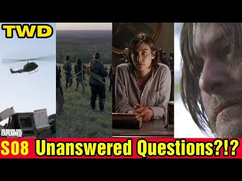 TWD S08 Unanswered Questions?!?
