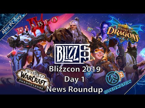 Blizzcon Day 1 Reveals - WOW Expansion, Diablo 4, Overwatch 2 and more!