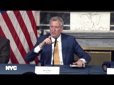 Mayor Bill de Blasio Makes an Announcement Regarding the Administration's Senior Personnel