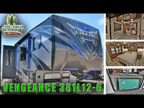 New 2018 FOREST RIVER VENGEANCE 381L12-6 Fifth Wheel Toy Hauler Colorado RV