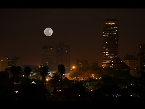 'Supermoon' lights up sky in Africa