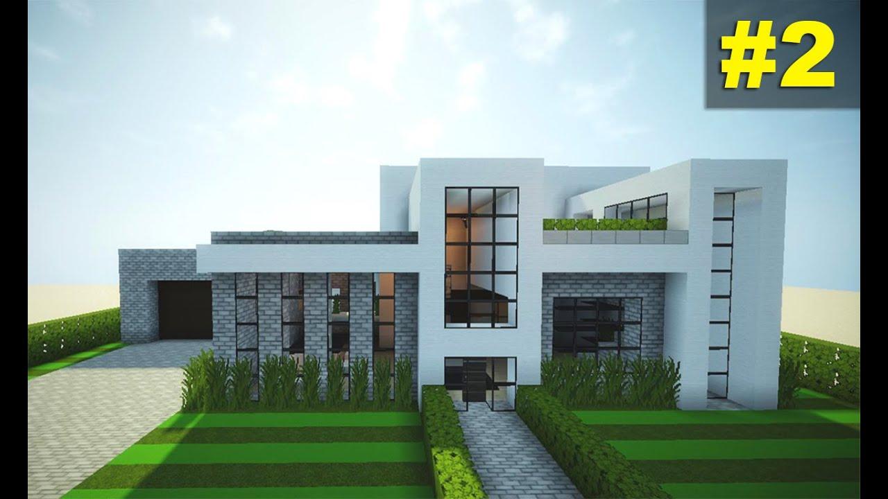 Como fazer uma casa moderna no minecraft 2 youtube for Casas modernas minecraft keralis