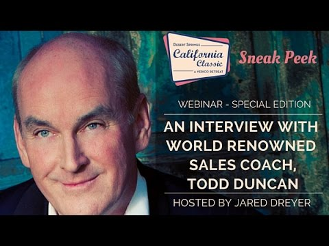 Interview with world renowned sales coach, Todd Duncan | VERICO Academy