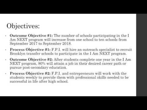 Revised EE NM KG CHSS624  Future Professionals Inc I Am NEXT Grant proposal presentation