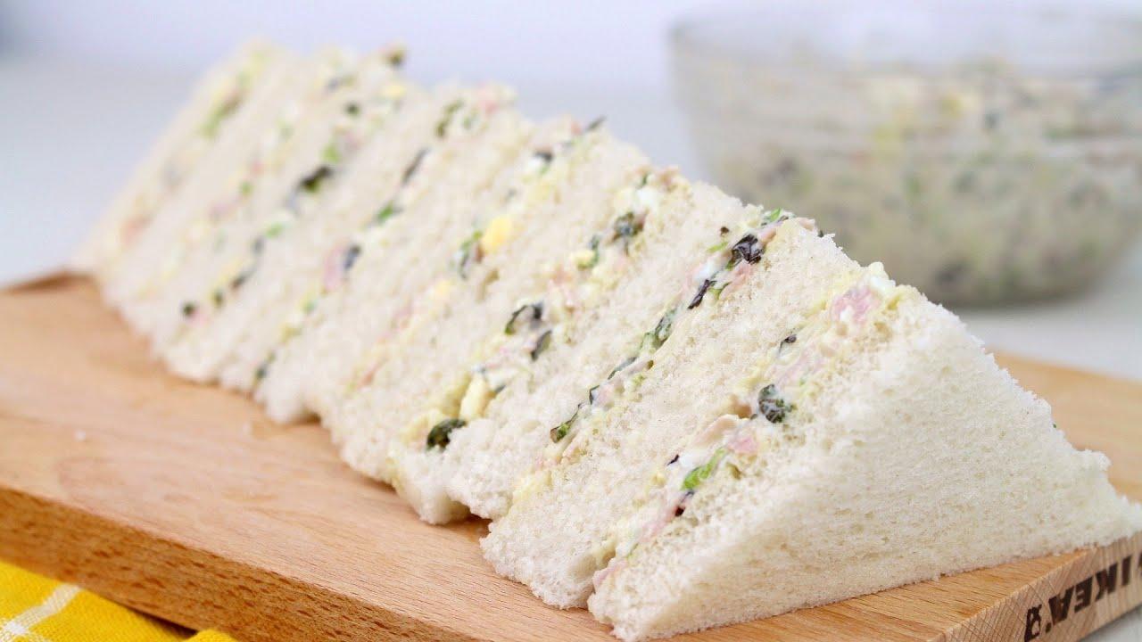 🥪SANDWICH DE ENSALADA DE HUEVO, JAMÓN Y QUESO CON MAMBO🥪 | Receta de sandwhich frío fácil
