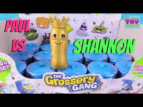 Paul vs Shannon Grossery Gang Season 3 Putrid Power Challenge Toy Review | PSToyReviews