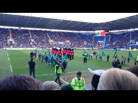 Irish Guards - St. Patricks Day Celebrations at the London Irish Rugby Club in Reading