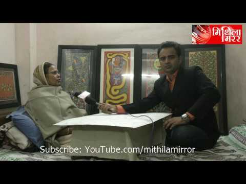 Lalit Narayan Jha talks to veteran Mithila Painting artist p