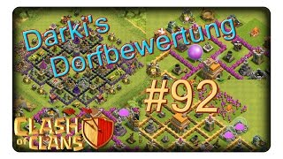 Darki's Dorfbewertung #92 || CLASH OF CLANS | CoC | Deutsch