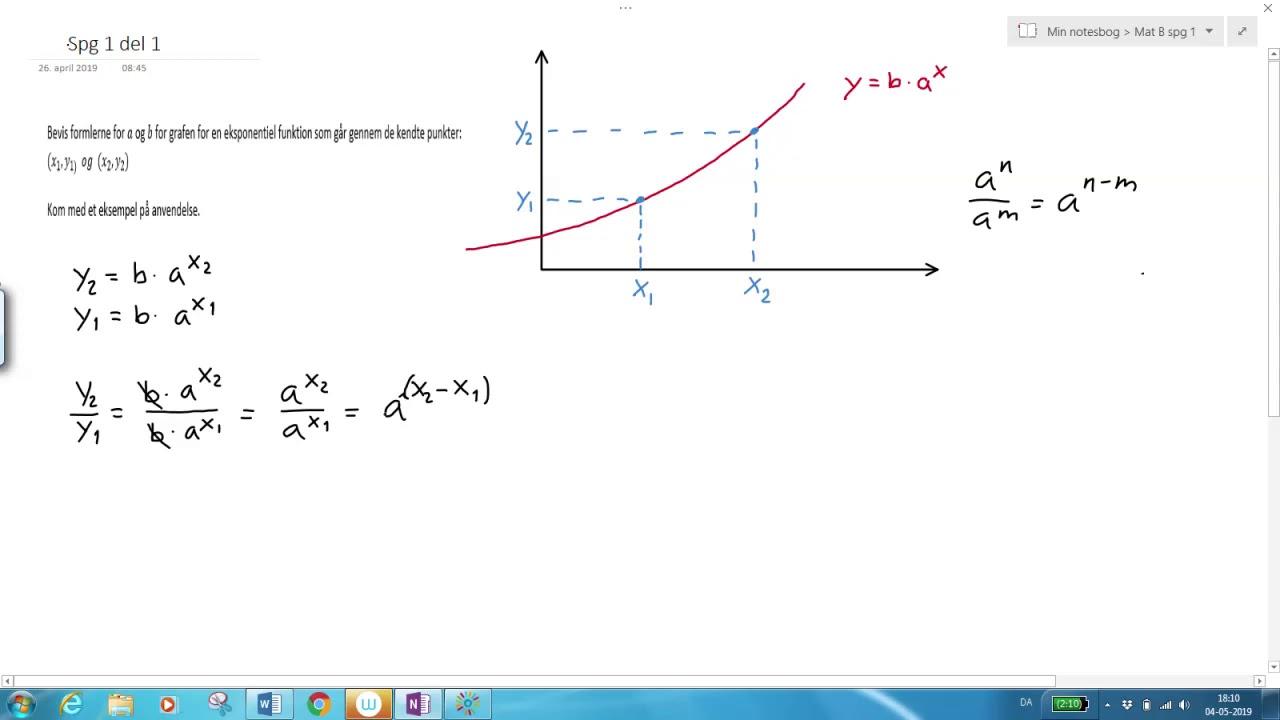 Eksponentiel funktion Bevis for a og b