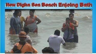 Beautiful Sea Beach Bath New Digha in India part 3 of 3/Digha Bathing