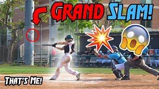 I HIT A GRAND SLAM! (IRL Baseball Game Day)