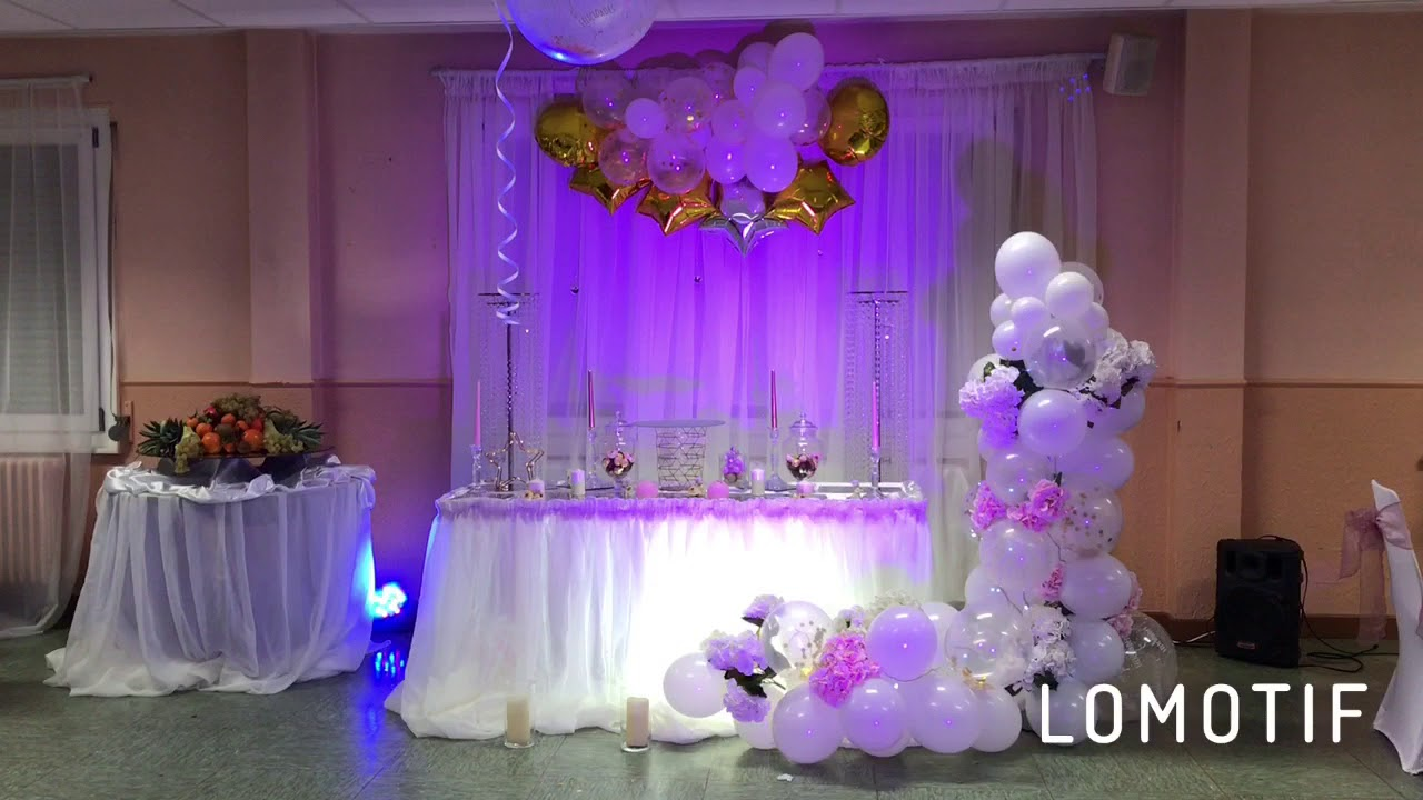 How To Make A Anniversary Decoration With Balloons And Flowers Pink