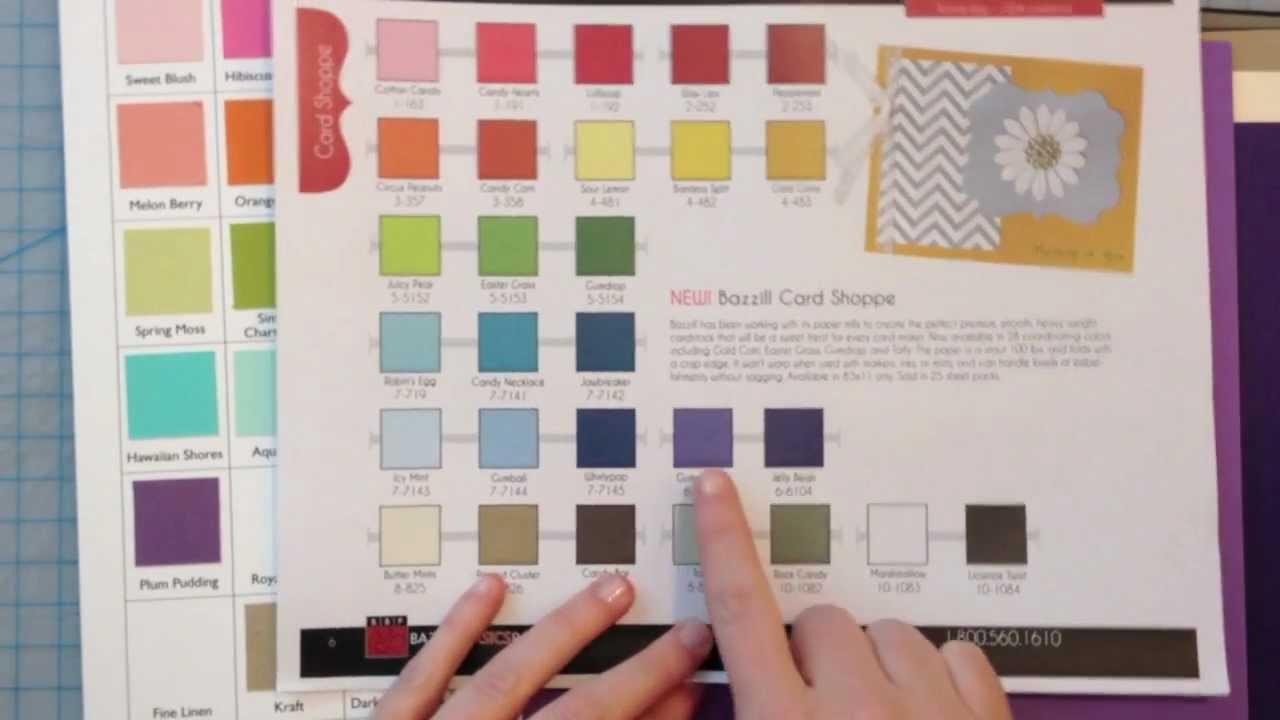 Bazzill Card Shoppe Color Comparison Youtube
