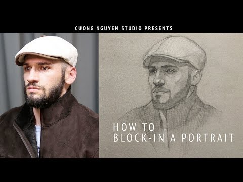 Blocking-In A Portrait In 3/4 View