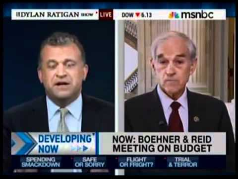 "Dylan Ratigan MSNBC Interviews Ron Paul ""The most honest politician I deal with"""