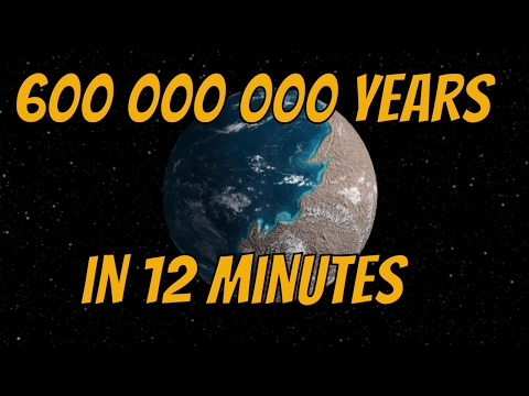 History of Earth - 600 000 000 Years in 12 minutes