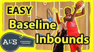 Easy Basketball Baseline Inbounds Plays