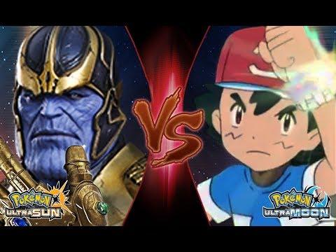Pokemon Crossover Battle: Ash Vs Thanos (Marvel Infinity War)