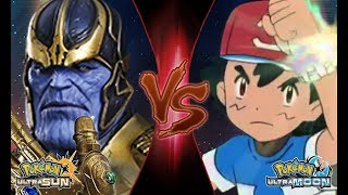 Pokemon Crossover Battle: Ash Vs Thanos (Marvel Infinity War)
