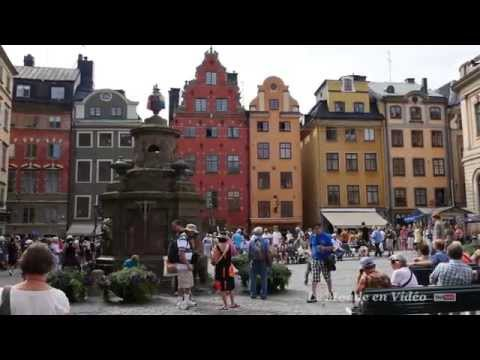 Stockholm ,Sweden  Walking travel tour : Old Town, Gamla Stan (Ultra 4K )