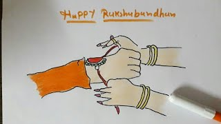 Happy Rakshabandhan ! How to draw happy Rakshabandhan festival brother and sister love easy drawing
