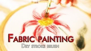 Fabric painting : Dry stroke Method Thumbnail