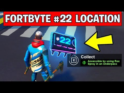 Fortnite Fortbyte 22 Location - Accessible by using Rox Spray in an Underpass (FORTBYTE #22)
