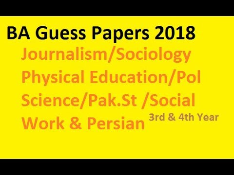 BA Conpulsory and Elective subjects guess papers 2018,by shahid Bhatti