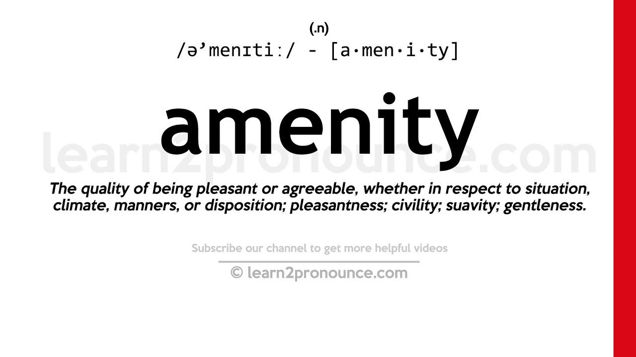 Pronunciation of Amenity  Definition of Amenity