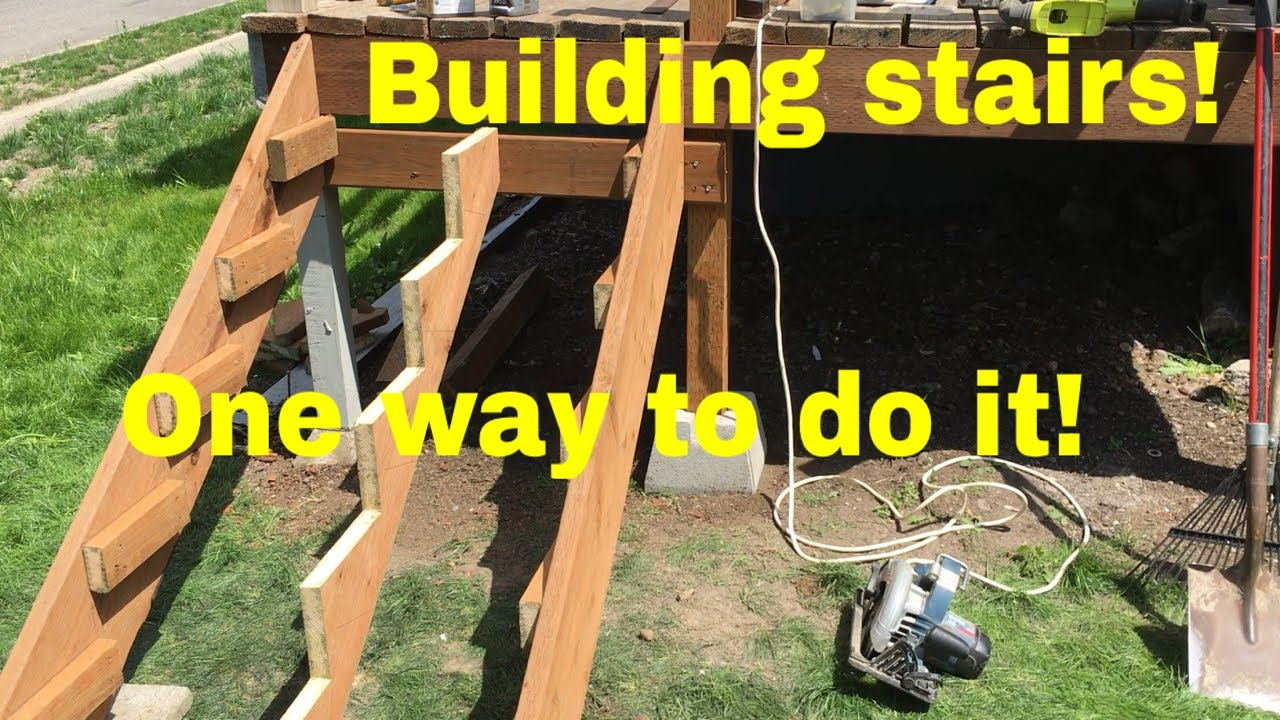 Deck Stairs   Building And Cutting Stringers   YouTube