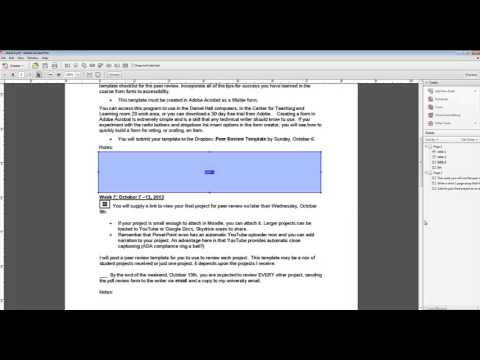 Word Doc To Adobe Acrobat Fillable Form Youtube