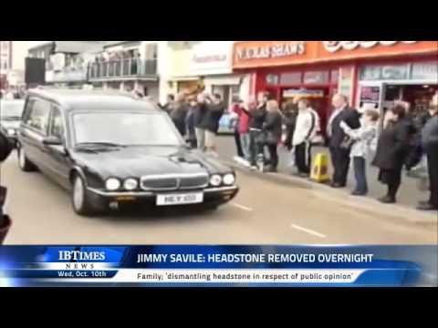 Jimmy Savile: Headstone removed overnight