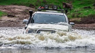 Extreme offroad 4x4 action australia adventure - mud bog water crossing 4WD