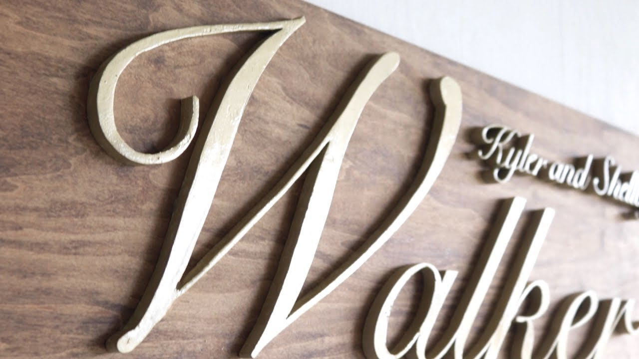 Diy Wooden Name Sign Perfect Wedding Gift Modern Builds Ep 66