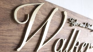 Diy Wooden Name Sign | Perfect Wedding Gift | Modern Builds | Ep. 66