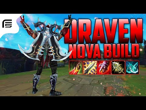 Fiv5 - NEW BUILD DRAVEN GAMEPLAY - FECHOU 1 ITEM JÁ ERA! - League of Legends - [ PT-BR ]