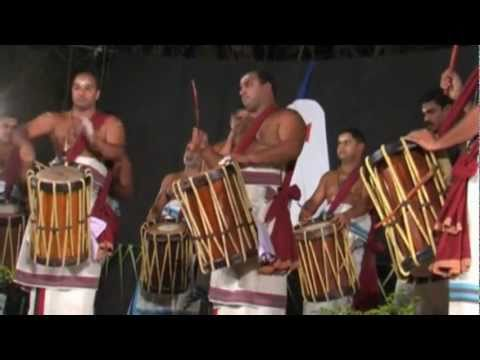Chenda drums from Kerala, Thayambaka