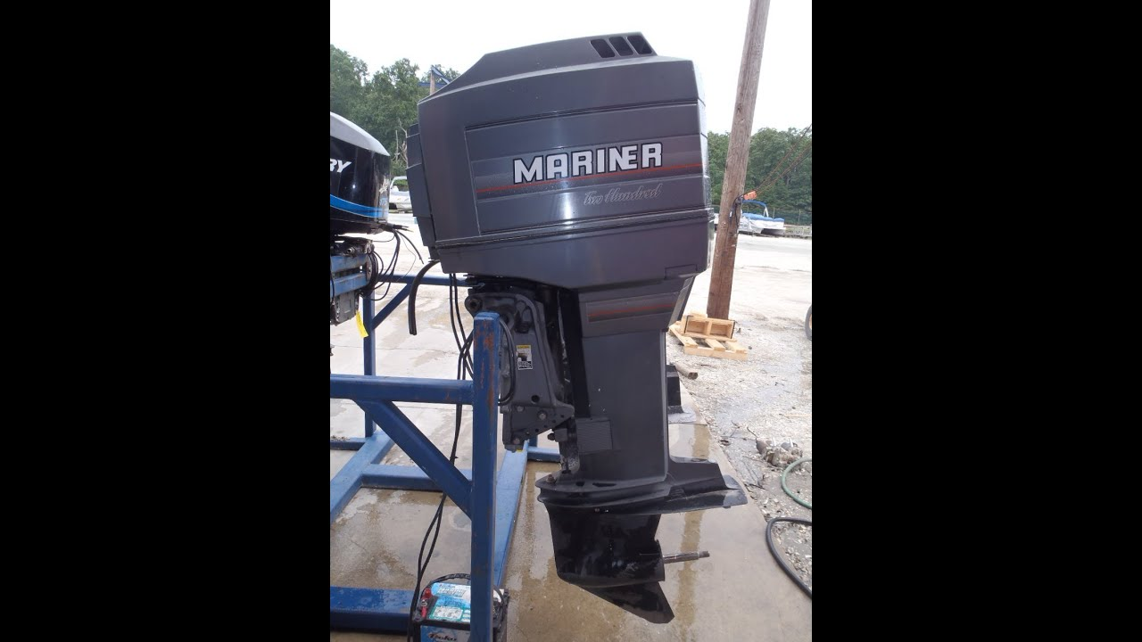small resolution of 6m3679a used 1990 mariner 200xl sw 200hp 2 stroke outboard boat motor 25 shaft youtube