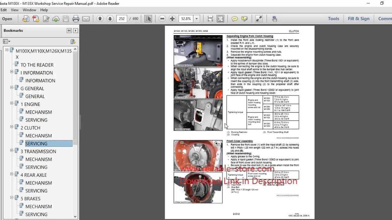 kubota diesel engine repair manual download