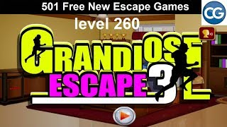 [Walkthrough] 501 Free New Escape Games level 260 - Grandiose escape 3 - Complete Game