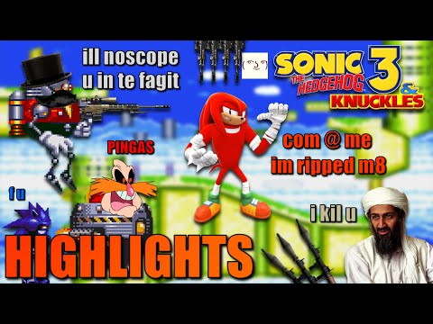 Let's Play Sonic 3 & Knuckles (Knuckles) HIGHLIGHTS! (1080p)