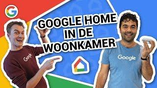 Google Home in de woonkamer - Vraag het Google