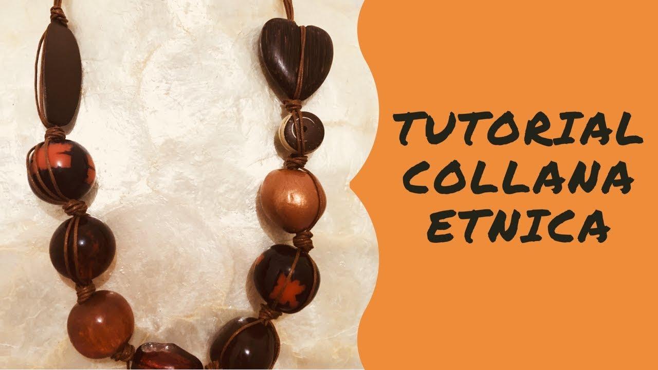 4ec585e42c83 TUTORIAL BIJOUX COLLANA ETNICA - YouTube