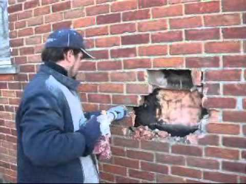 Brick Repair How To Remove Milk Chute Livonia Michigan Wmv