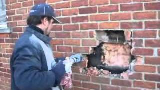 Brick Repair How to Remove Milk chute livonia michigan.wmv