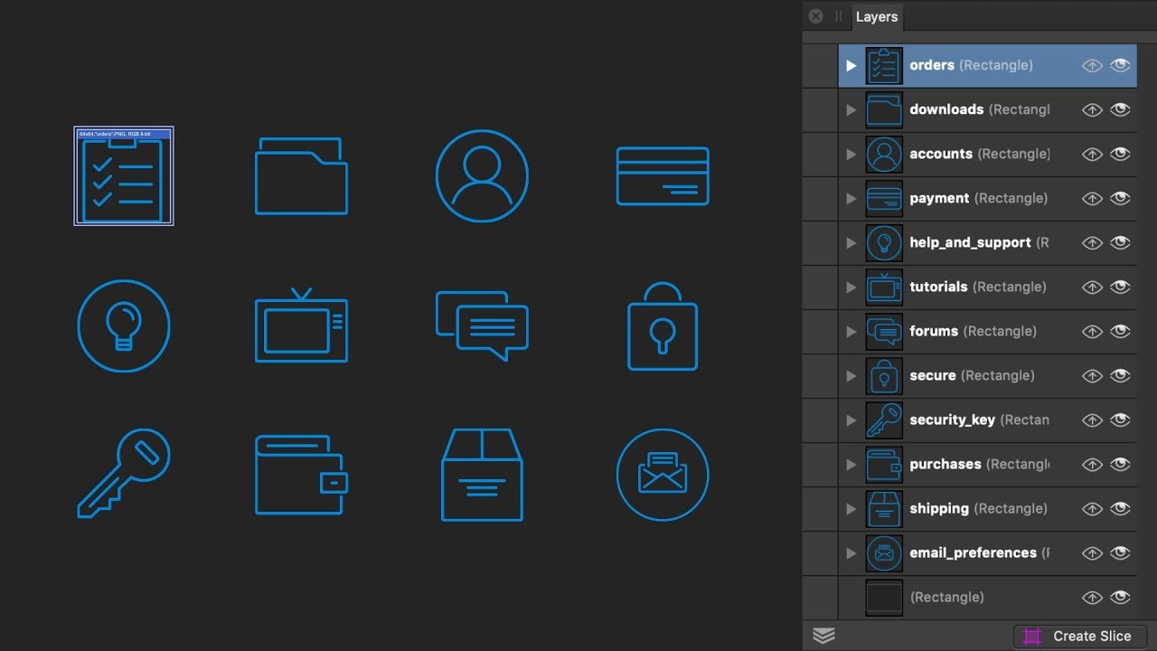 Affinity Designer Export Persona Layers Panel Youtube